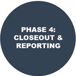 Click for more information on Phase 4, grant closeout and reporting