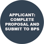 Step 4: Once the BPS Grants Review Team reviews and approves the applicant, the Applicant completes the proposal