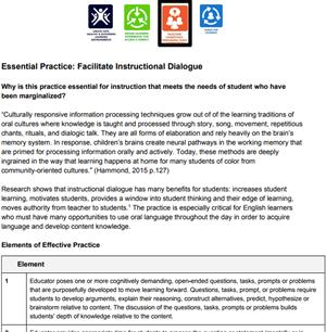 BPS Essentials for Equity / Essential 3: Facilitate