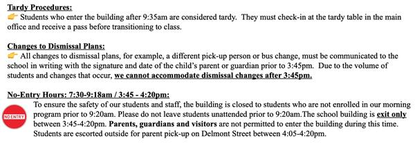 Tardy Procedures