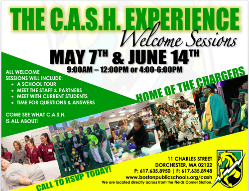 CASH Welcome Sessions