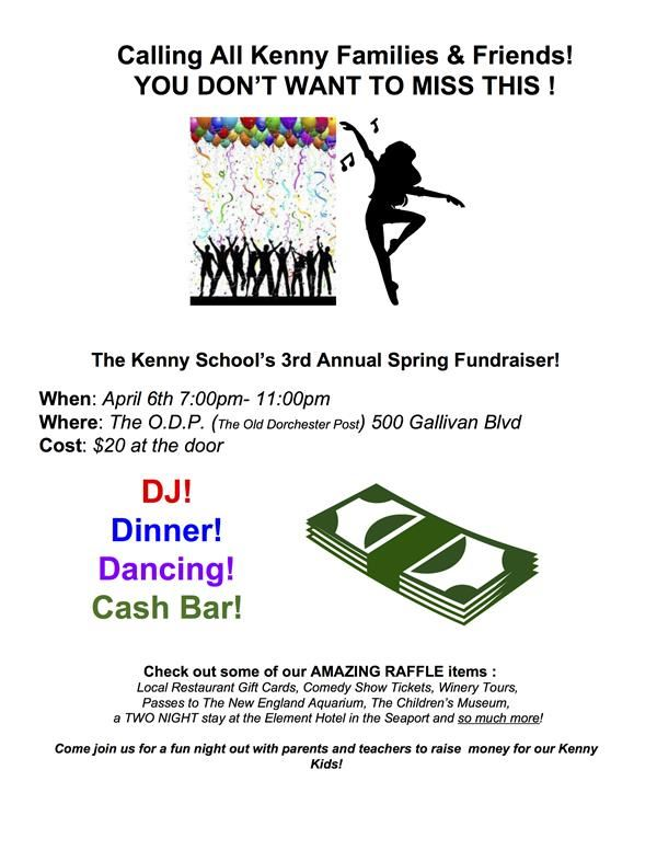 The Kenny School's 3rd Annual Spring Fundraiser!