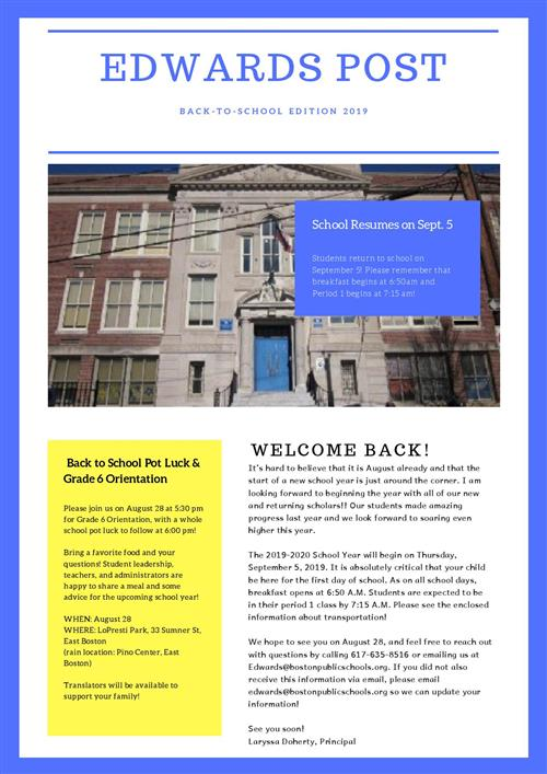 2019 Summer Newsletter Page 1