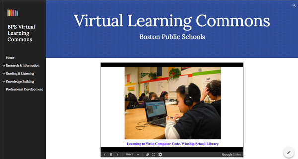 BPS Virtual Learning Commons (NEW!)