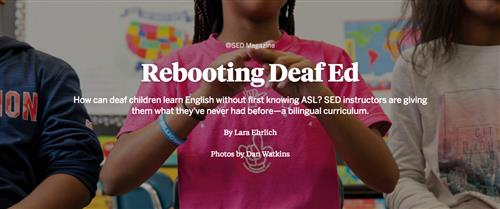 Rebooting Deaf Ed