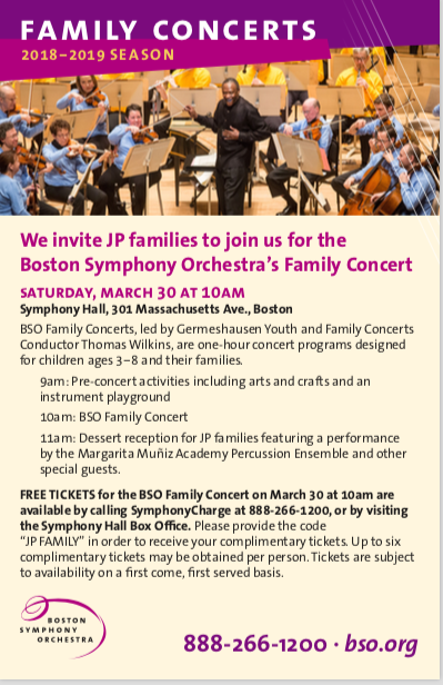 BSO Free Family Concert March 30th