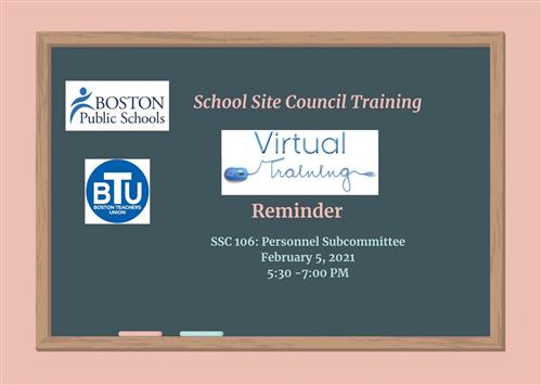 School Site Council Personnel Subcommittee Training