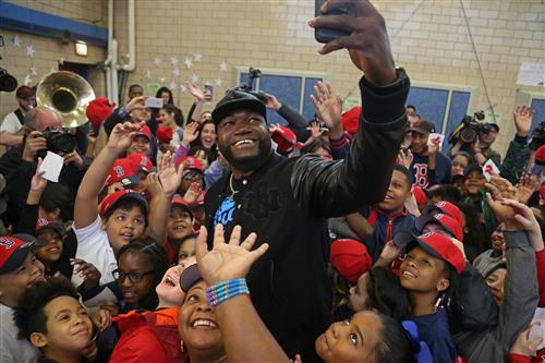 David Ortiz at Hurley School