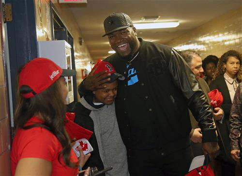 David Ortiz with students
