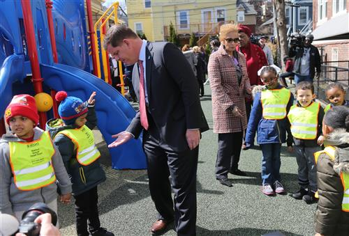 Mayor Walsh at Universal Pre-K expansion announcement on April 2, 2019.
