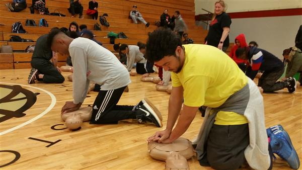 BPS and the American Heart Association Kick Off Initiative to Train District's 17,000 High-School Students in Lifesaving Skills