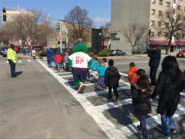 BPS, City Leaders and Wally the Green Monster Join Thousands of Students in Walk to School Day