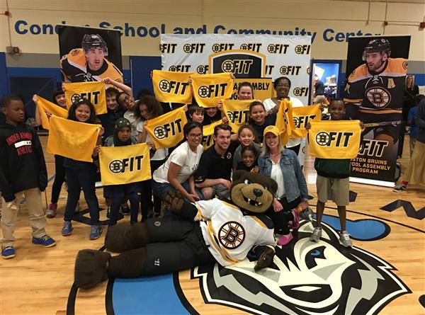 Celebrating Partnership with the Boston Bruins at the Condon K-8 School