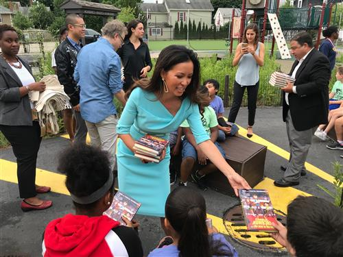 Vertex Gives BPS Students Free Books Authored by Tonya Mezrich at 5th Quarter Summer Learning Site