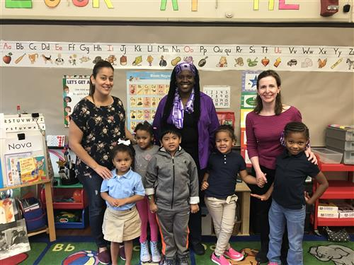 Winthrop Elementary School Teachers and Students