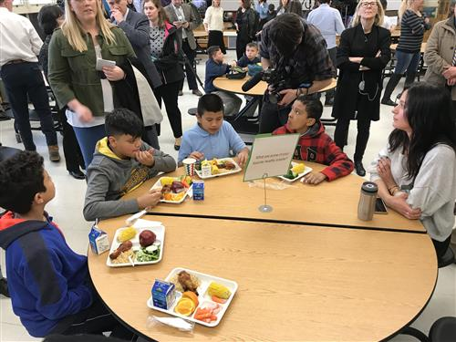 Bradley Elementary Students at lunch on 4/2/18