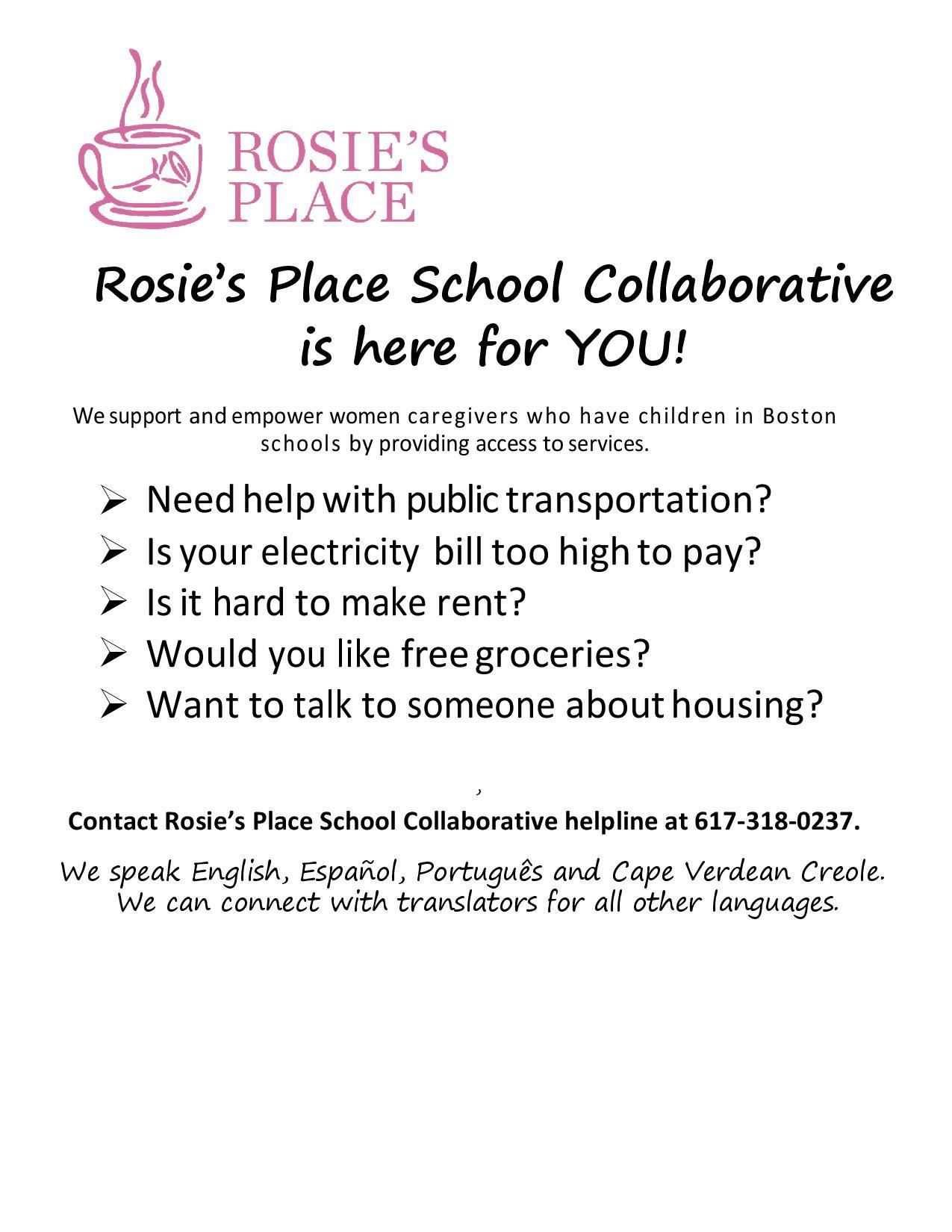 Rosie's Place School Collaborative 1