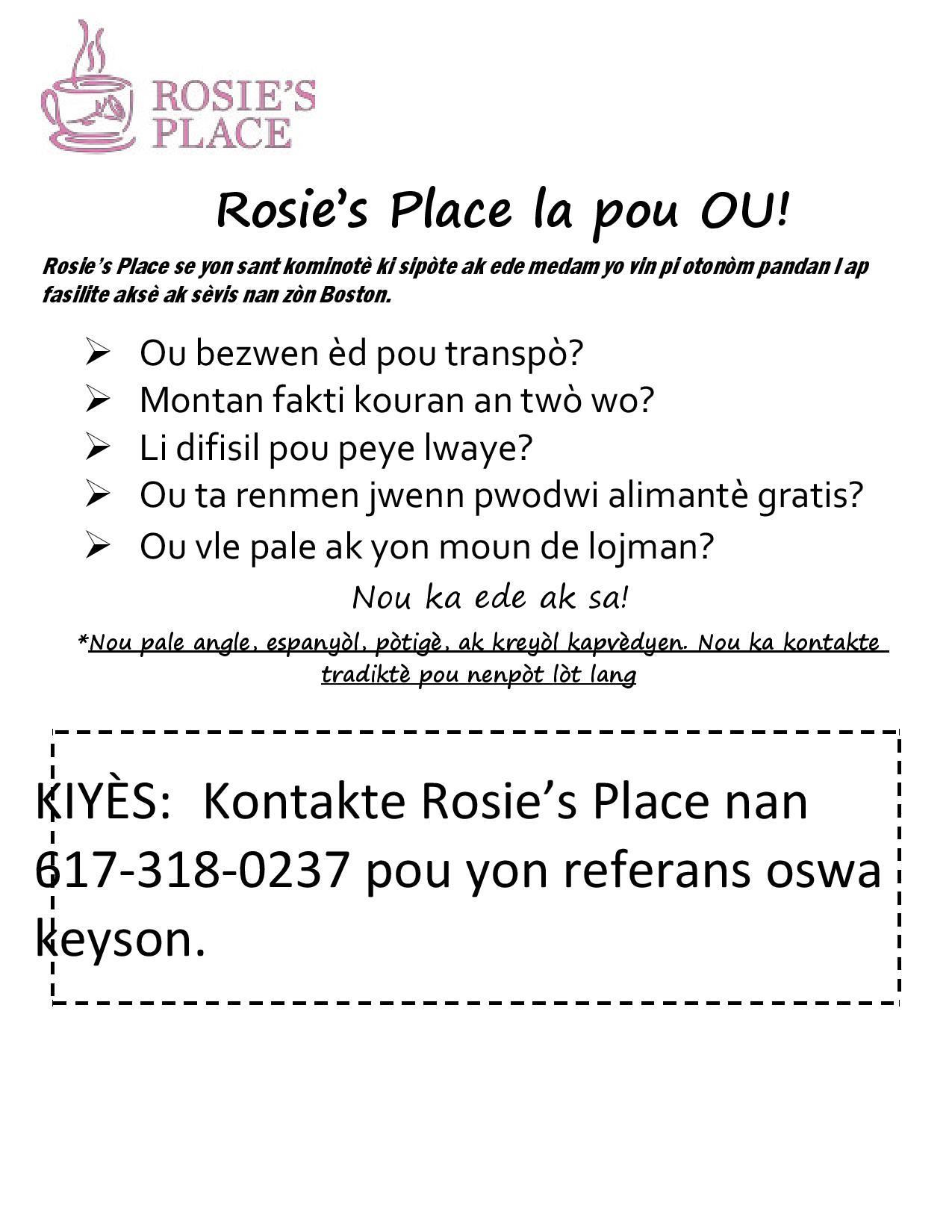 Rosie's Place School Collaborative 2