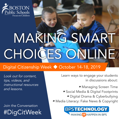 Digital Citizenship Week is October 14-18