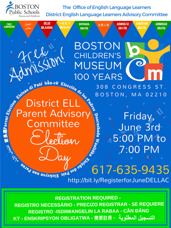 ELL Parent Conference Election Day at Boston Children's Museum