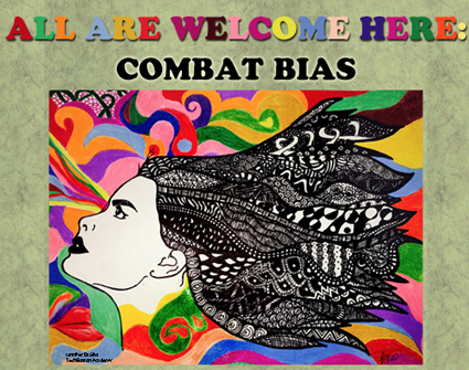 all are welcome here combat bias