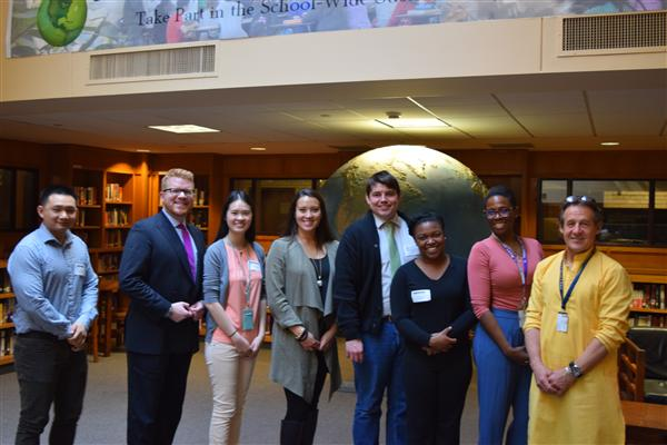 Left to Right: Terry Yin, Matt O'Malley, Winnie Wang, Stephanie Maneikis, Dominic Hall, Jess Francoi