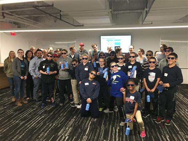 PHoto: Students from South Boston's Perry K-8 School Visit Tech Firm Salsify for a Day of Hands-on