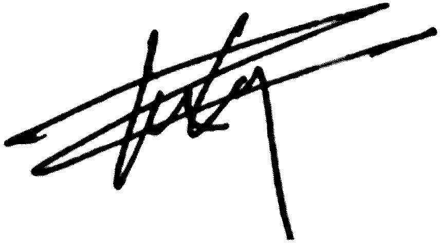 Signature of Superintendent Tommy Chang